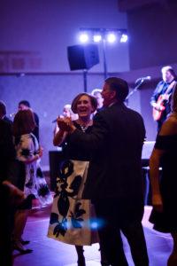 Gifting Gala attendees dancing